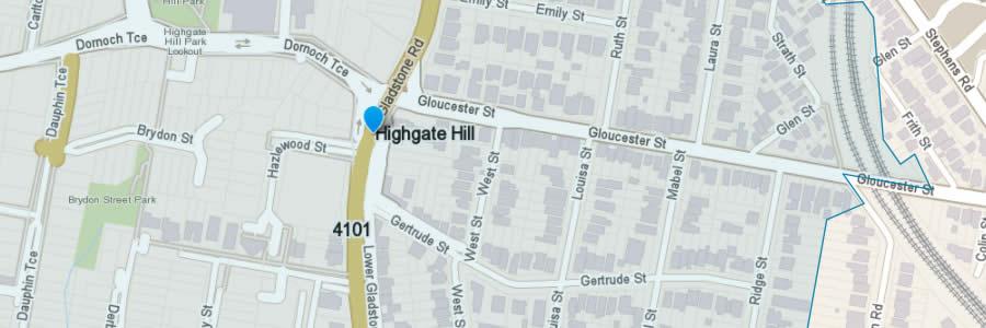 Pest Control Highgate Hill Map