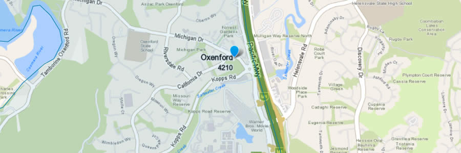 Pest Control Oxenford Map