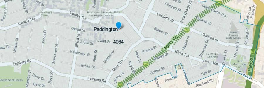 Pest Control Paddington Map